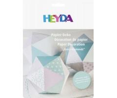 Paberdekoratsioon Paberkristallid,  mündiroheline, 6 tk - Heyda