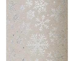 Kartong naturaalne, 50x70cm, 300g/m², Hõbedased lumehelbed - Heyda