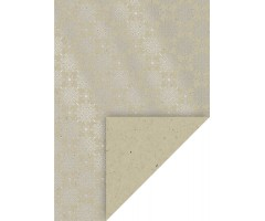 Mustriga kartong A4, 220 g/m² - Ornament hõbe - Heyda
