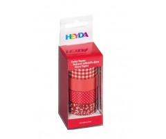 Dekoratiivteip punane-valge, 15mmx5m, 4k pakis - Heyda