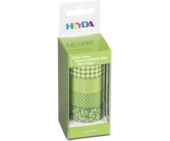 Dekoratiivteip roheline-valge, 15mmx5m, 4k pakis - Heyda