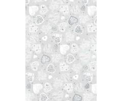 Läbipaistev paber - suured hõbedased südamed, A4 115 g/m² - Heyda