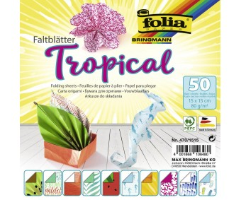 Origami paber 50 lehte - Tropical