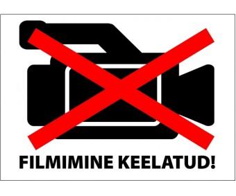 Infokleebis 99x139 mm (väga tugev, ilmastikukindel) - FILMIMINE KEELATUD