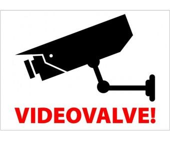 Infokleebis 99x139 mm (väga tugev, ilmastikukindel) - VIDEOVALVE