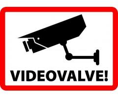 Infokleebis 99x139 mm (väga tugev, ilmastikukindel) - VIDEOVALVE, raamiga