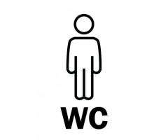 Infokleebis 99,1x139 mm (väga tugev, ilmastikukindel) - WC mehed