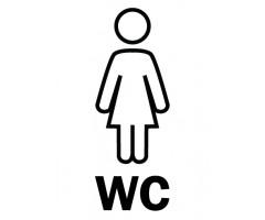 Infokleebis 99,1x139 mm (väga tugev, ilmastikukindel) - WC naised