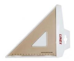 Kolmnurk-joonlaud Linex Coll-425 - 45°, 16,5cm
