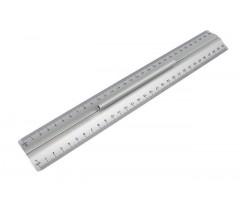 Käepidemega joonlaud alumiiniumist Wedo - 30cm