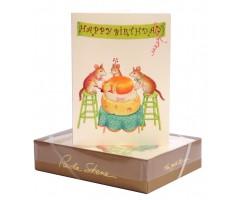 Õnnitluskaart + ümbrik Paula Skene, 117x158mm - Happy Birthday!