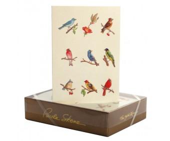 Õnnitluskaart + ümbrik Paula Skene, 117x158mm - linnud