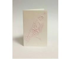 Õnnitluskaart + ümbrik Paula Skene, 57x90mm - roosad lilled