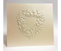 Õnnitluskaart + ümbrik Paula Skene, 145x158mm - roosidest süda
