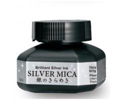 Jaapani tint Zig Kuretake Silver Mica 60ml - hõbedane
