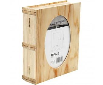 Karp puidust (raamatukarp) - 21.7x18x5.6cm