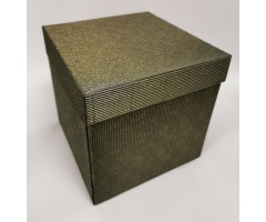 Karp lainepapist - 20x20x20 cm - must/kuldne roos