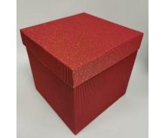 Karp lainepapist - 20x20x20cm - punane säbruga