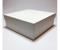 Karp lainepapist - 27x27x10cm - valged roosid