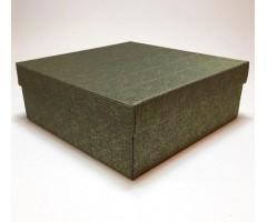 Karp lainepapist - 27x27x10cm - must/kuld roosid