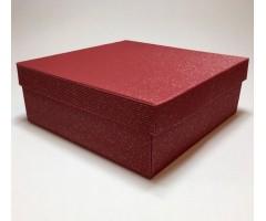 Karp lainepapist - 27x27x10cm - punane säbru
