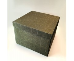 Karp lainepapist - 30x30x20cm - must/kuldne roos
