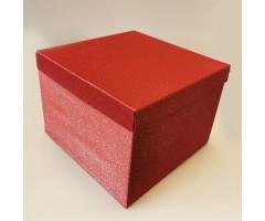 Karp lainepapist - 30x30x20cm - punane säbruga