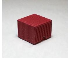 Karp lainepapist - 5x5x4cm - punane kuldse säbruga