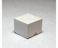 Karp lainepapist - 5x5x4cm - valged roosid