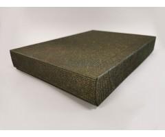 Karp lainepapist - 22x31x5cm (A4) - must/kuldne roos