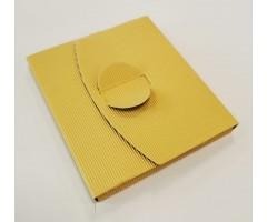 Karp lainepapist CD-le, 12,5 x 14,5 x 1,2 cm - kuldne
