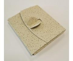 Karp lainepapist CD-le, 12,5 x 14,5 x 1,2 cm - valge säbruline