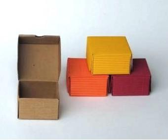Karp lainepapist - 5x5x4cm (värvivalik)