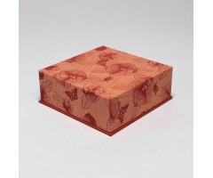 Karp Nepaali paberiga - 11x11x4 cm, lilled ja lehed - roosa