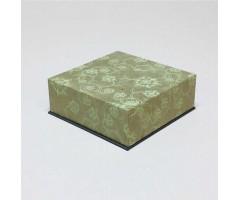 Karp Nepaali paberiga - 11x11x4 cm, lilled ja väädid - hall