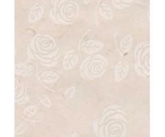 Karp Nepaali paberiga - 11x11x4 cm, valged roosid