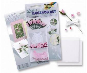 Kaunistuste komplekt Folia - roosad tulbid