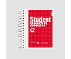 Spiraalkaustik Student A6, 160 lehte, 5x5 ruut, BRUNNEN