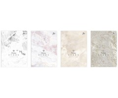 Kontoriraamat A5, 96 lehte, 5x5 ruut - Metallic Stone