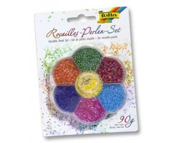 Pärlite komplekt Folia 90g - erinevad värvid