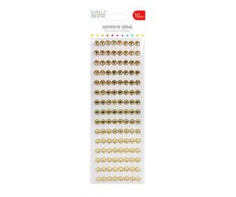 Kleepuvad kristallkivid Simply Creative - kuld, 10mm