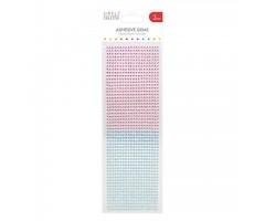 Kleepuvad kristallkivid Simply Creative - sinine/roosa, 3mm