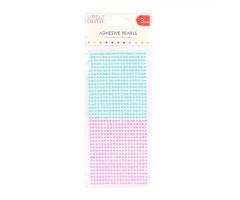 Kleepuvad poolpärlid Simply Creative - sinine/roosa, 3mm