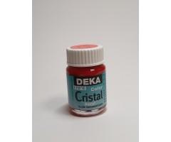 Klaasivärv Cristal (läikiv, läbipaistev), 25 ml - 14 helepunane - Deka
