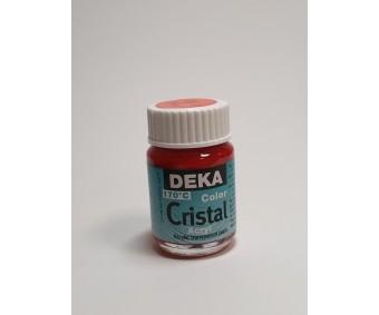 Klaasivärv Deka Cristal (läikiv, läbipaistev), 25 ml - 14 helepunane