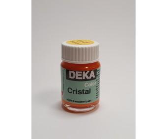 Klaasivärv Deka Cristal (läikiv, läbipaistev), 25 ml - 7 kuldkollane