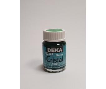 Klaasivärv Deka Cristal (läikiv, läbipaistev), 25 ml - 64 roheline