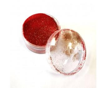 Embossing pulber - Punane Glitter, 10g - Knorr Prandell