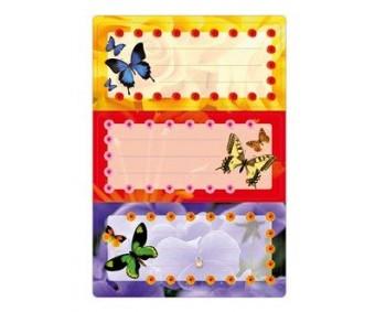 Vihikuetiketid Herma Vario - liblikad (sädelusega)