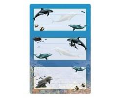 Vihikuetiketid Herma Vario - delfiinid (sädelusega)